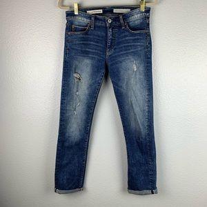 Anthro Pilcro and Letterpress Slim Straight Jeans